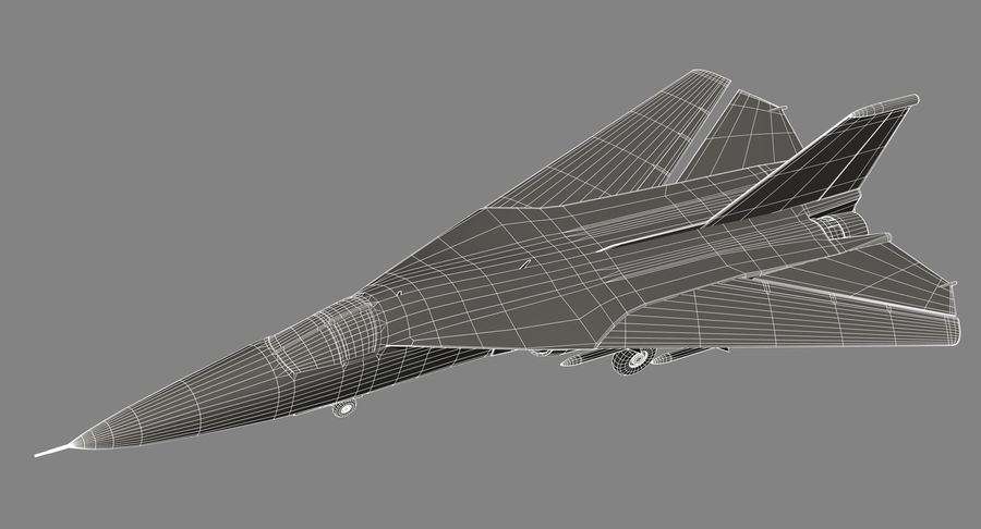 F111 Aardvark royalty-free 3d model - Preview no. 23