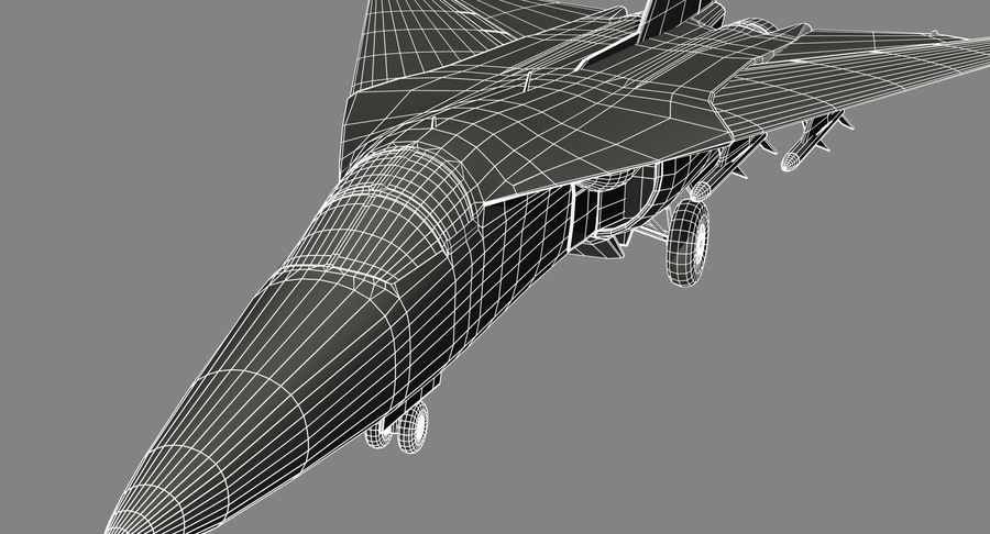 F111 Aardvark royalty-free 3d model - Preview no. 25