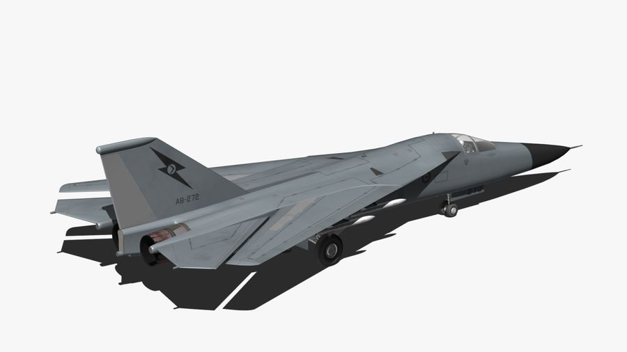 F111 Aardvark royalty-free 3d model - Preview no. 4
