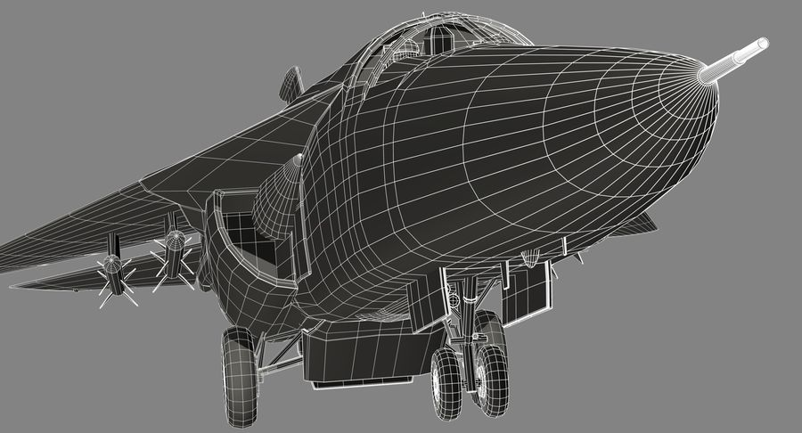 F111 Aardvark royalty-free 3d model - Preview no. 27