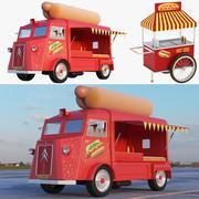 Colección de carro de comida y carro modelo 3d