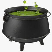Pot with Potion Animated 3d model
