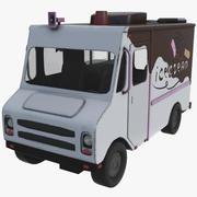 아이스크림 트럭 초콜릿 3d model