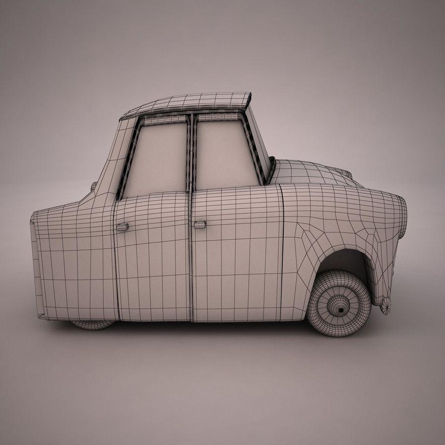 Antique Cartoon Car(1) royalty-free 3d model - Preview no. 14