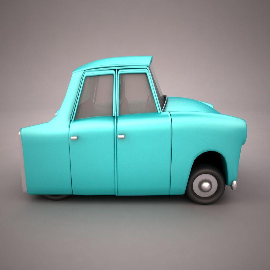 Antique Cartoon Car(1) royalty-free 3d model - Preview no. 7