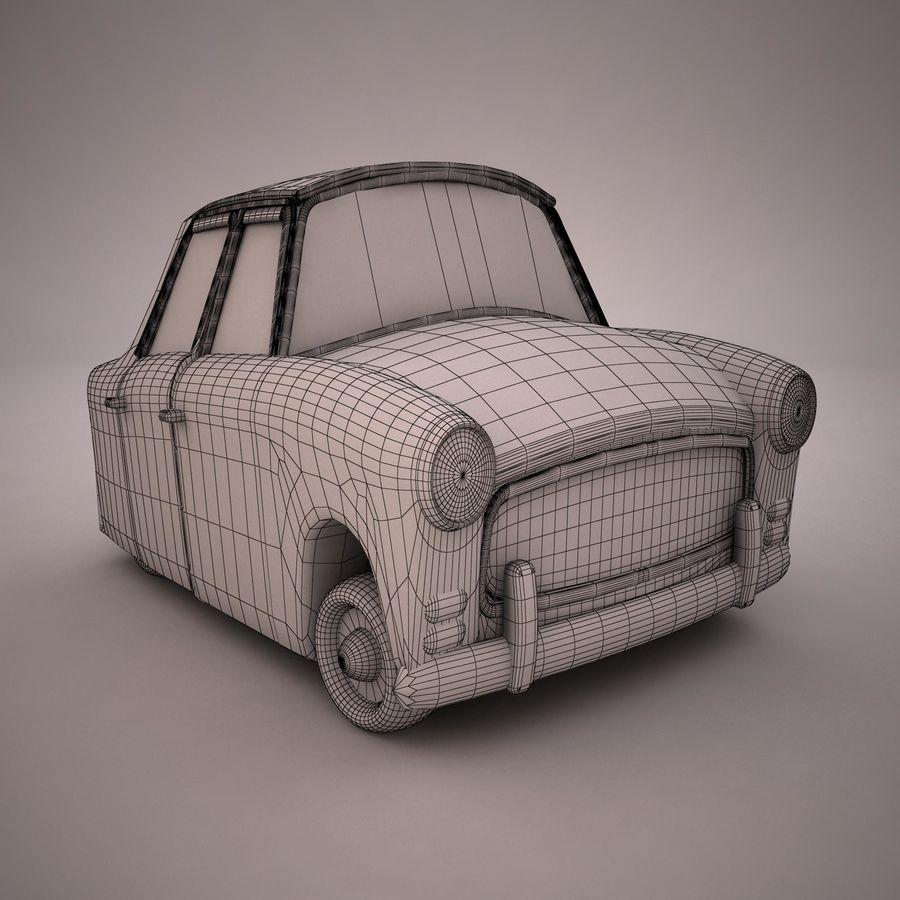 Antique Cartoon Car(1) royalty-free 3d model - Preview no. 15