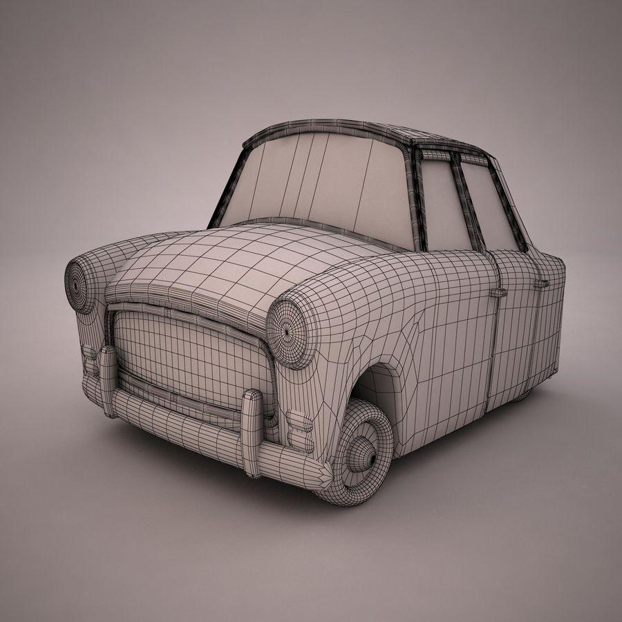 Antique Cartoon Car(1) royalty-free 3d model - Preview no. 9