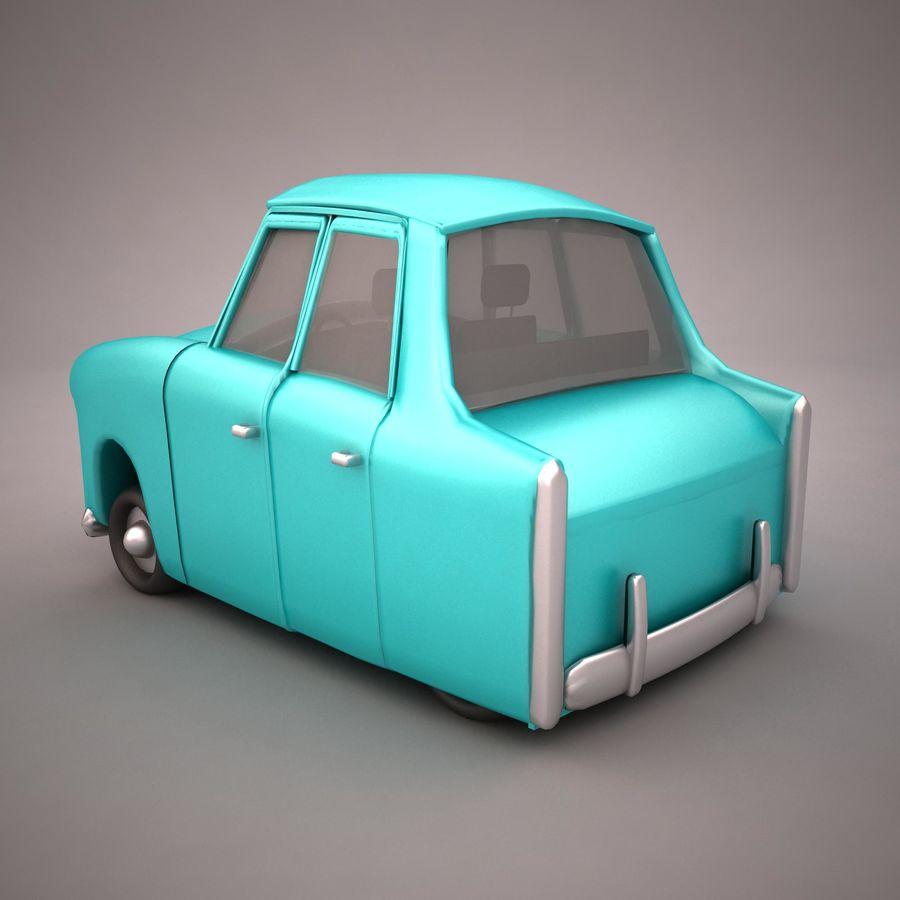 Antique Cartoon Car(1) royalty-free 3d model - Preview no. 4