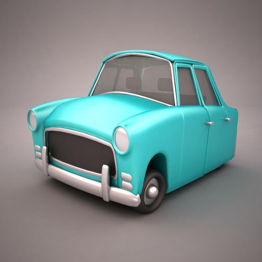 Antique Cartoon Car(1) royalty-free 3d model - Preview no. 2