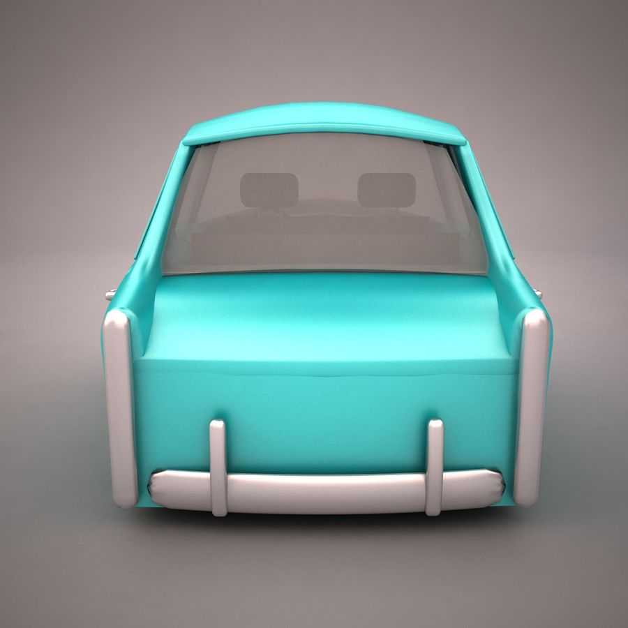 Antique Cartoon Car(1) royalty-free 3d model - Preview no. 5