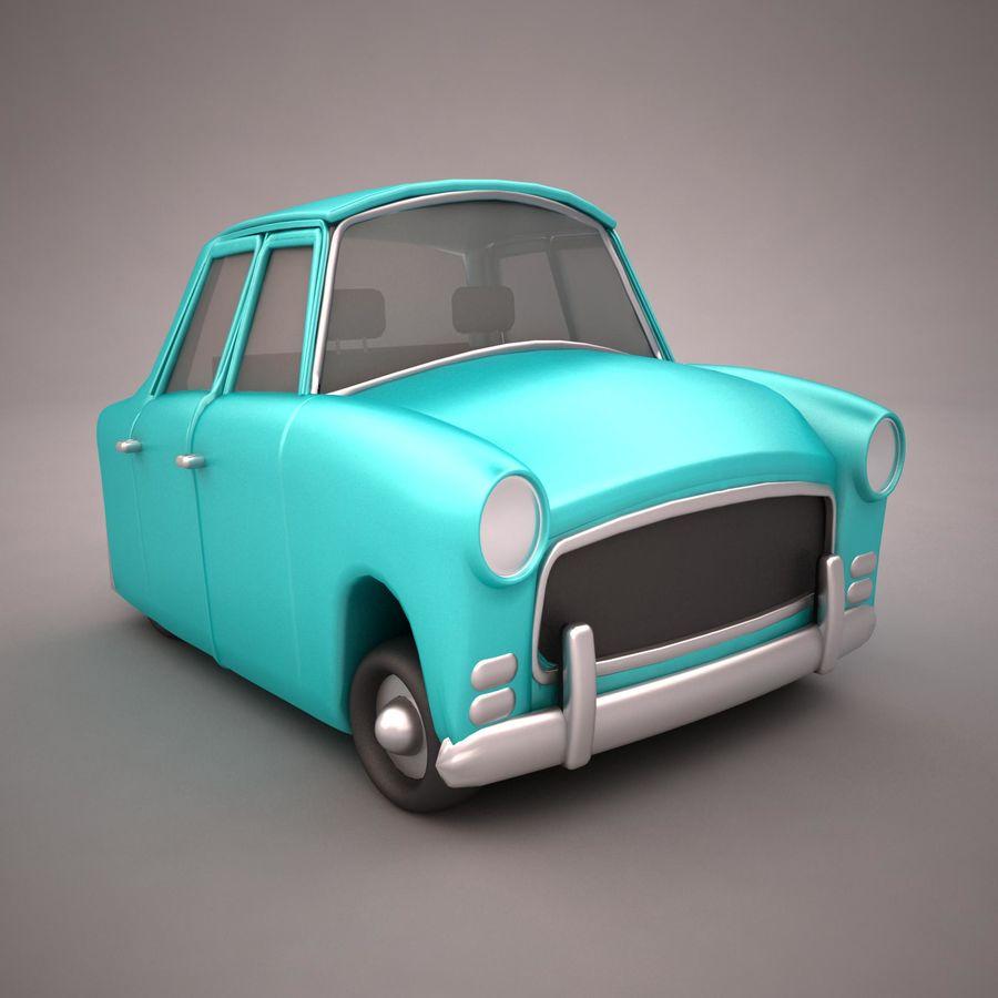 Antique Cartoon Car(1) royalty-free 3d model - Preview no. 8