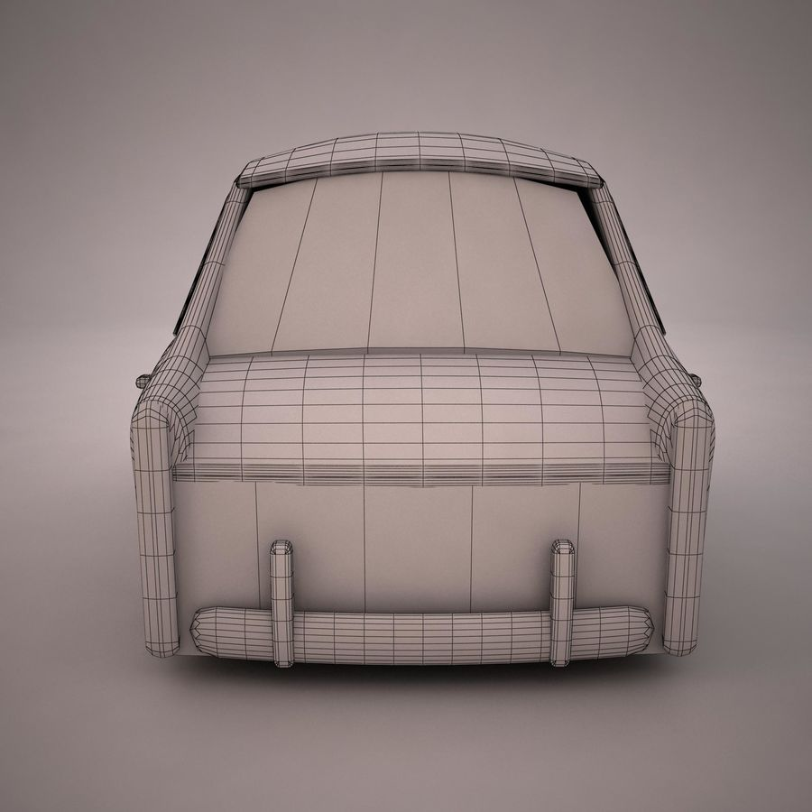 Antique Cartoon Car(1) royalty-free 3d model - Preview no. 12
