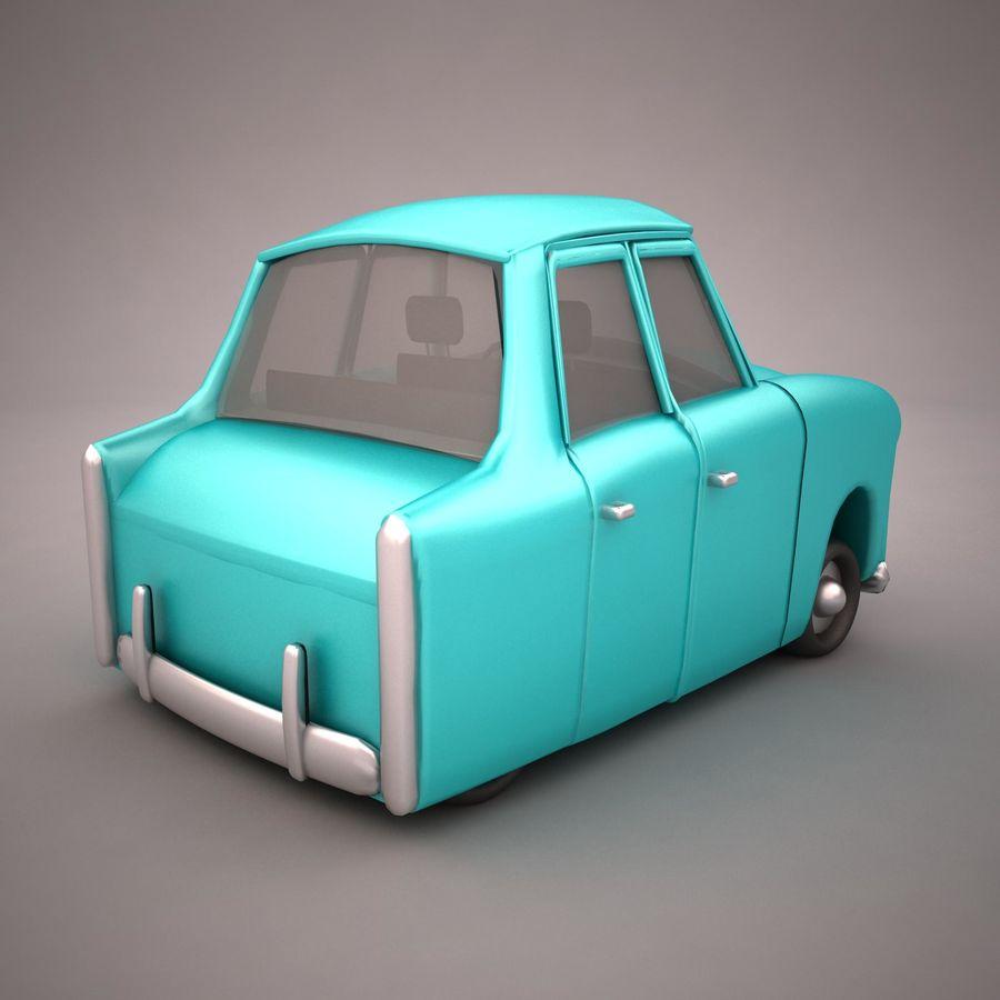 Antique Cartoon Car(1) royalty-free 3d model - Preview no. 6