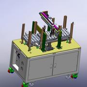 Empilhador automático de carga e descarga 3d model