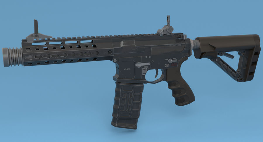 M4 Assault Rifle royalty-free 3d model - Preview no. 3