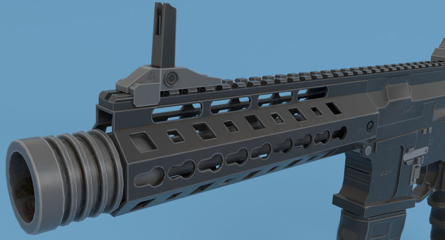M4 Assault Rifle royalty-free 3d model - Preview no. 8