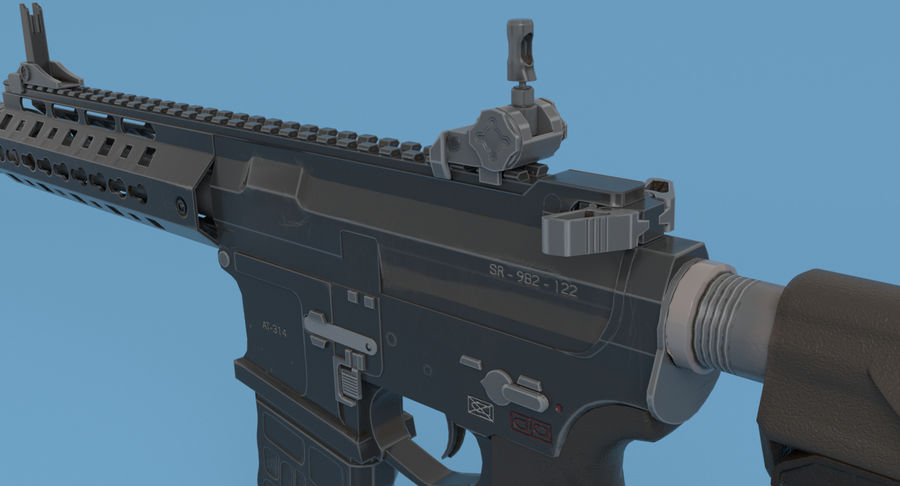 M4 Assault Rifle royalty-free 3d model - Preview no. 7