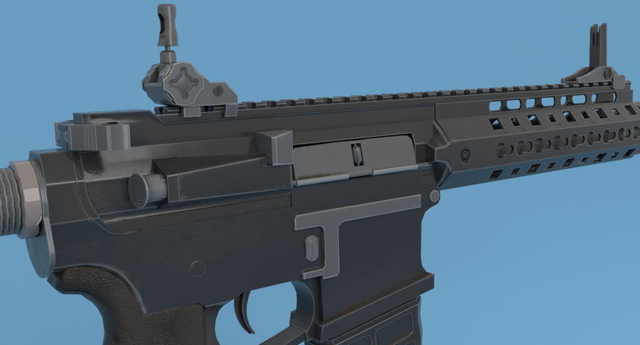 M4 Assault Rifle royalty-free 3d model - Preview no. 10