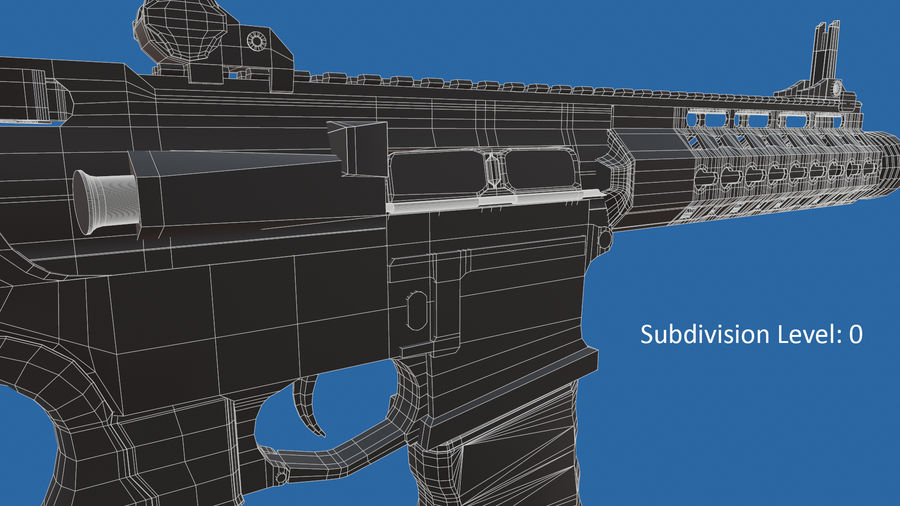 M4 Assault Rifle royalty-free 3d model - Preview no. 16