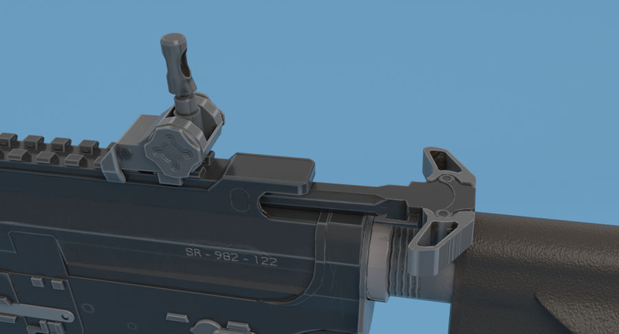 M4 Assault Rifle royalty-free 3d model - Preview no. 11