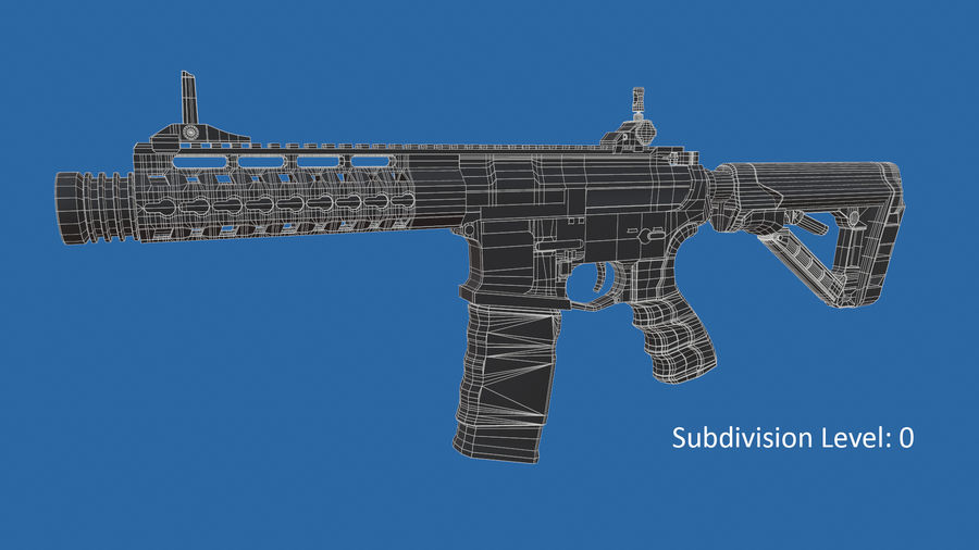 M4 Assault Rifle royalty-free 3d model - Preview no. 17