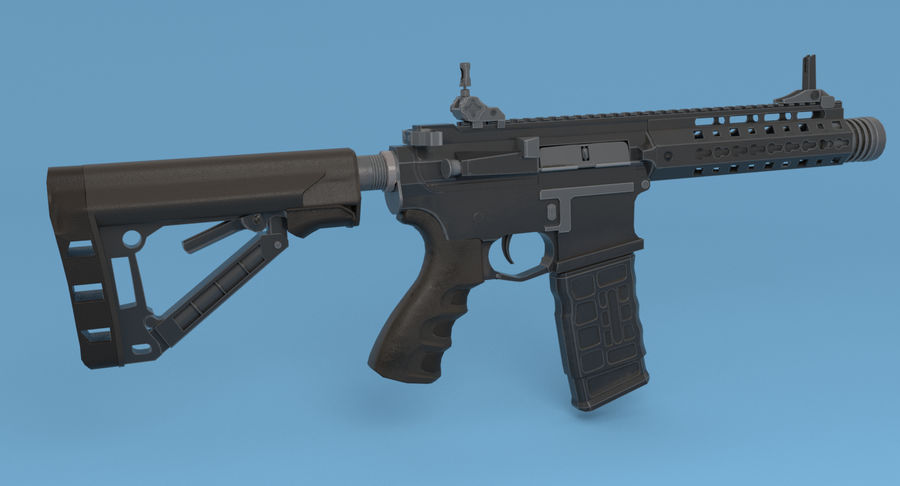 M4 Assault Rifle royalty-free 3d model - Preview no. 6