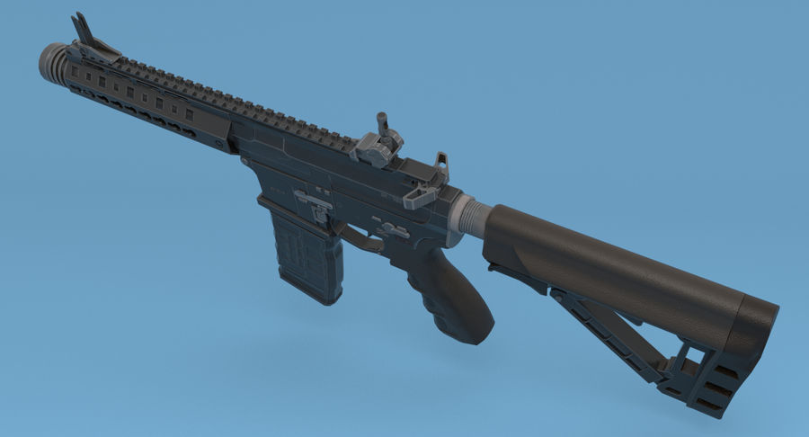 M4 Assault Rifle royalty-free 3d model - Preview no. 4