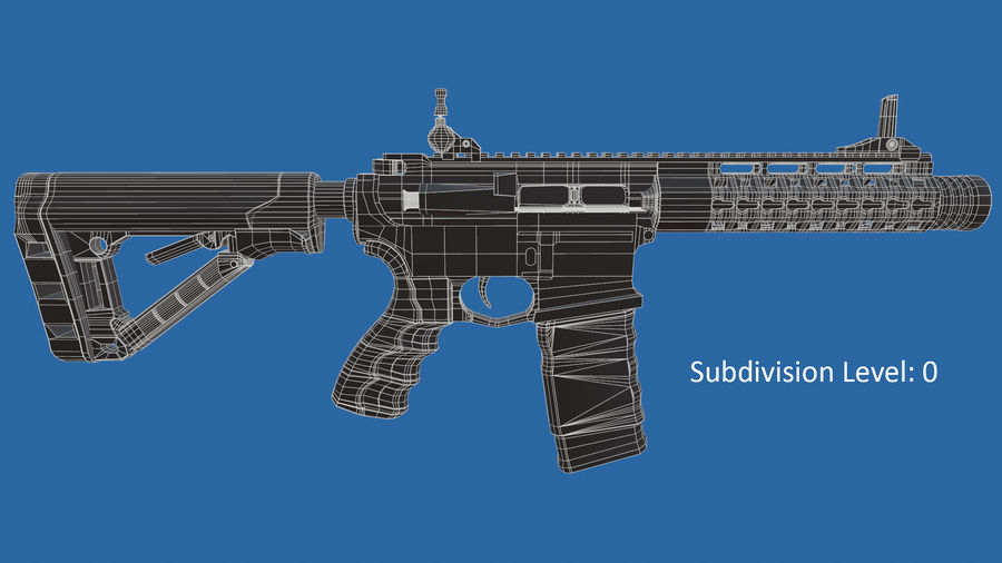 M4 Assault Rifle royalty-free 3d model - Preview no. 12