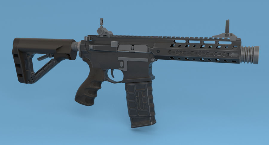 M4 Assault Rifle royalty-free 3d model - Preview no. 5