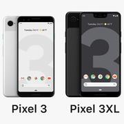 Google Pixel 3XL y Pixel 3 modelo 3d