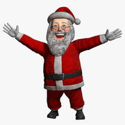 Cartoon Santa Claus 1 Rigged 3d model