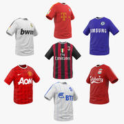 Soccer T-Shirts 3D Models Collection 2 3d model
