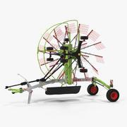 Twin Rotor Hay Rake Claas Liner 2700 parkerad 3D-modell 3d model