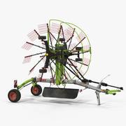 Begagnad Twin Rotor Hay Rake Claas Liner 2700 Parked 3D Model 3d model