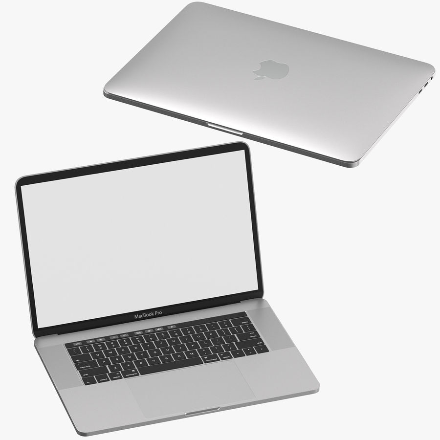 Apple Macbook Pro Open and Closed royalty-free 3d model - Preview no. 1