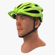Giro Revel hjälm på manlig huvud 3D-modell 3d model