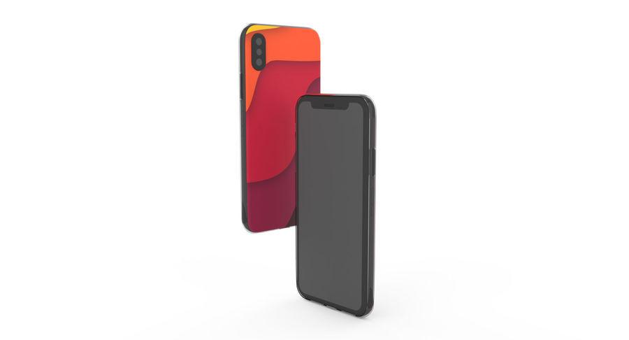 Custodia per iPhone x royalty-free 3d model - Preview no. 7