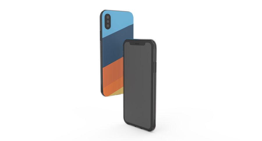 Custodia per iPhone x royalty-free 3d model - Preview no. 15