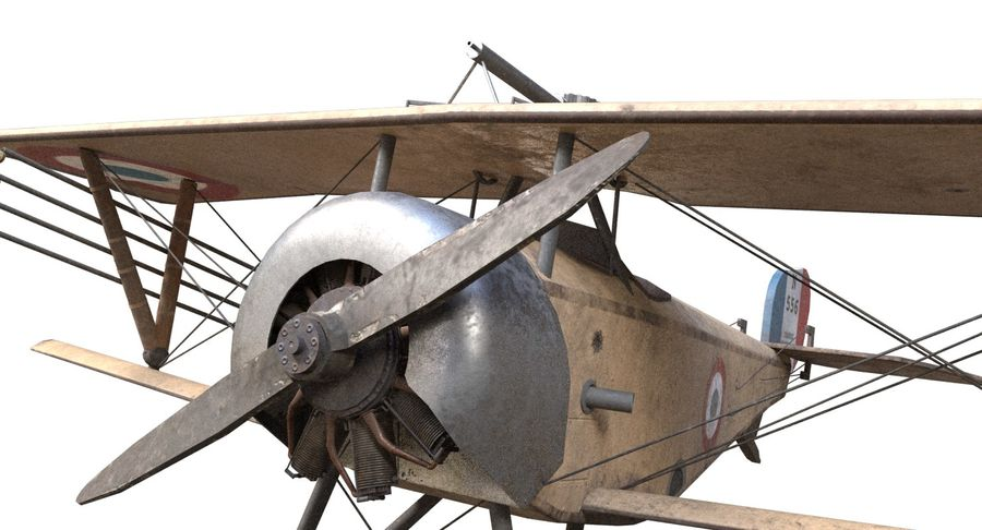 Nieuport 11 royalty-free 3d model - Preview no. 8