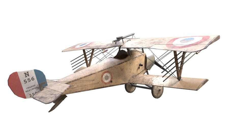 Nieuport 11 royalty-free 3d model - Preview no. 3