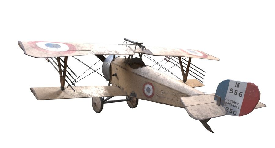 Nieuport 11 royalty-free 3d model - Preview no. 6
