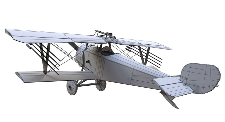 Nieuport 11 royalty-free 3d model - Preview no. 12