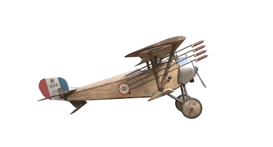 Nieuport 11 royalty-free 3d model - Preview no. 4
