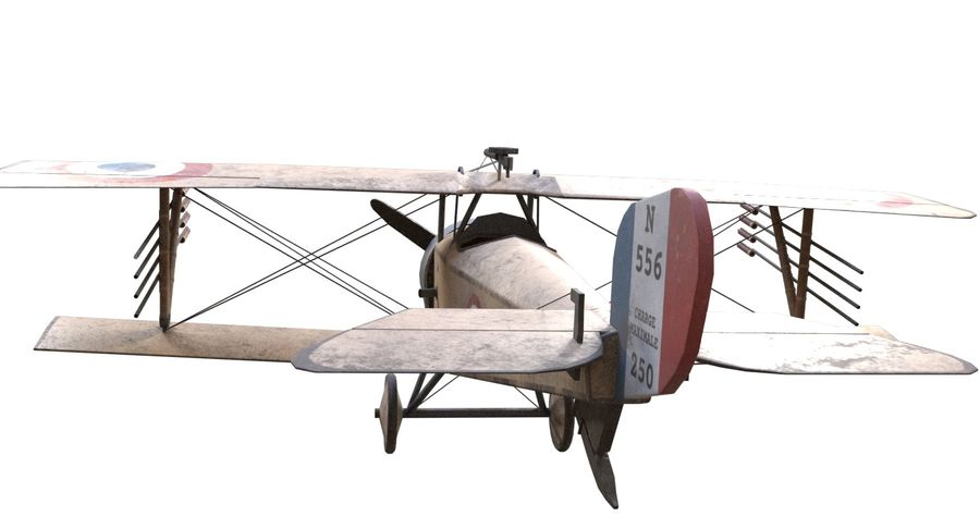 Nieuport 11 royalty-free 3d model - Preview no. 9