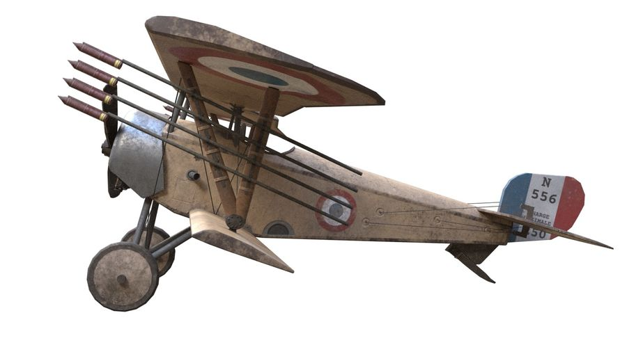Nieuport 11 royalty-free 3d model - Preview no. 7