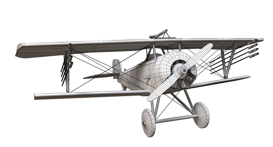 Nieuport 11 royalty-free 3d model - Preview no. 10