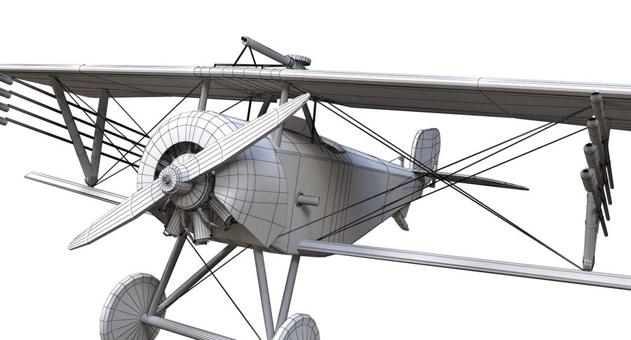 Nieuport 11 royalty-free 3d model - Preview no. 13