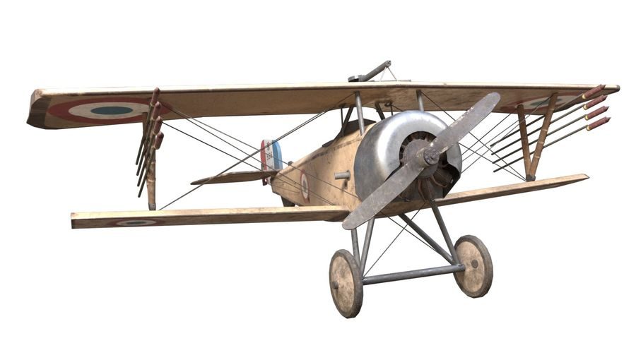 Nieuport 11 royalty-free 3d model - Preview no. 2