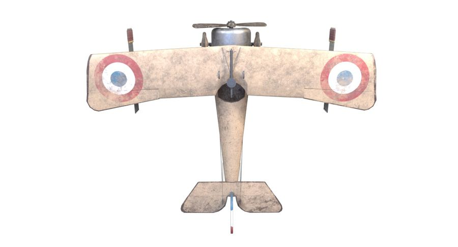 Nieuport 11 royalty-free 3d model - Preview no. 5