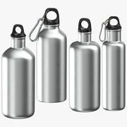Alluminium-flessen 3d model